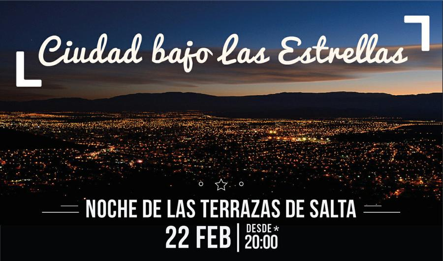 Ciudad Bajo Las Estrellas Noche De Las Terrazas De Salta